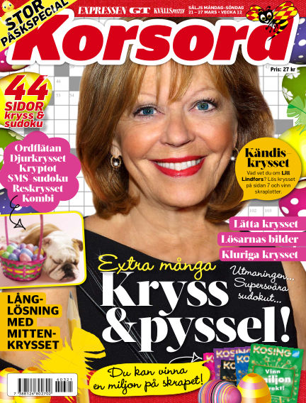 Korsord March 21, 2016 00:00