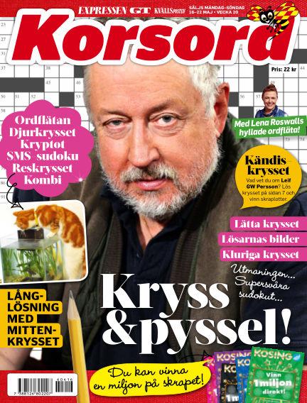 Korsord May 16, 2016 00:00