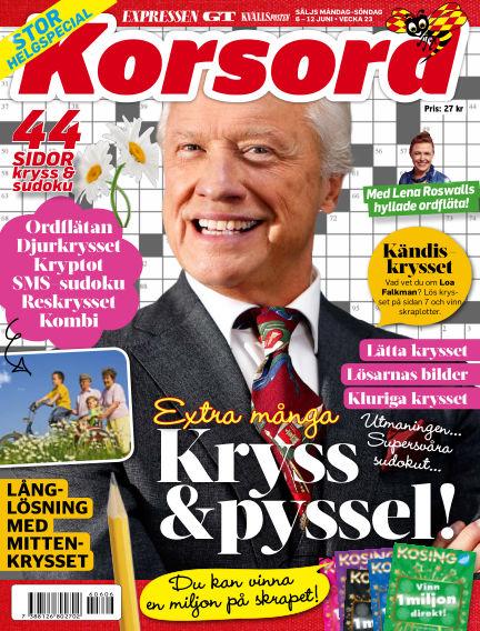 Korsord June 06, 2016 00:00
