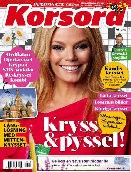 Korsord July 18, 2016 00:00