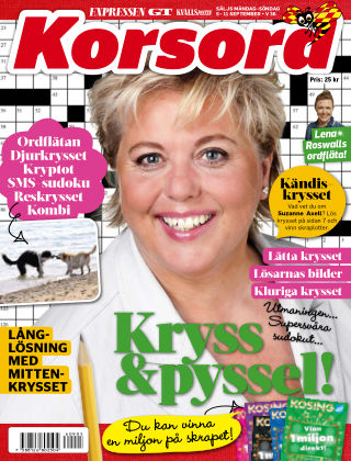 Korsord 2016-09-05