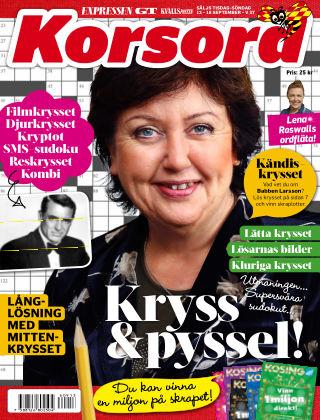 Korsord 2016-09-12