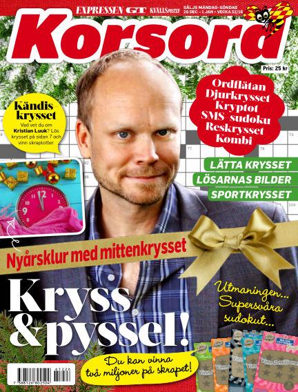Korsord December 26, 2016 00:00