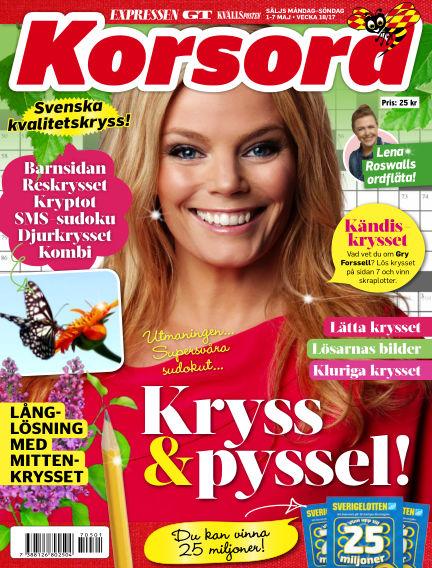 Korsord May 01, 2017 00:00