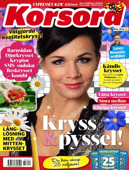 Korsord June 19, 2017 00:00