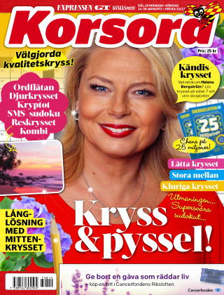 Korsord 2017-08-14