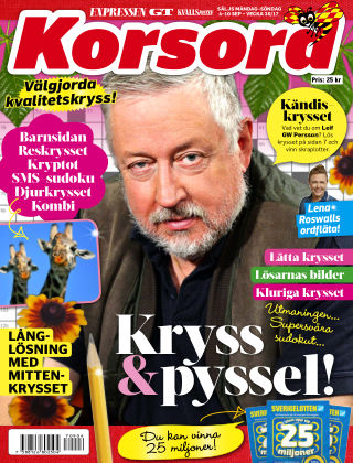 Korsord 2017-09-04
