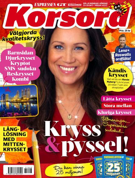 Korsord October 23, 2017 00:00