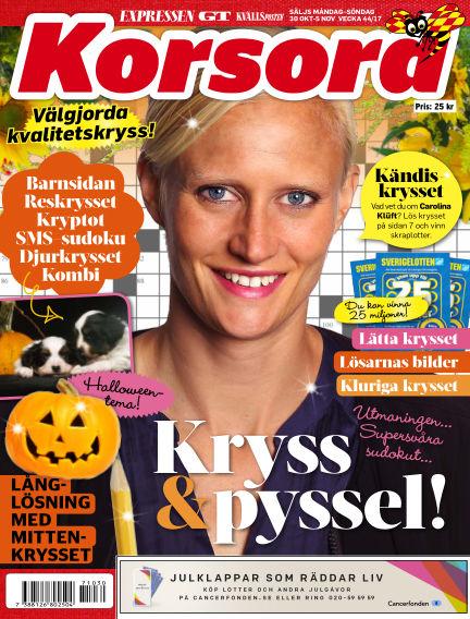 Korsord October 30, 2017 00:00