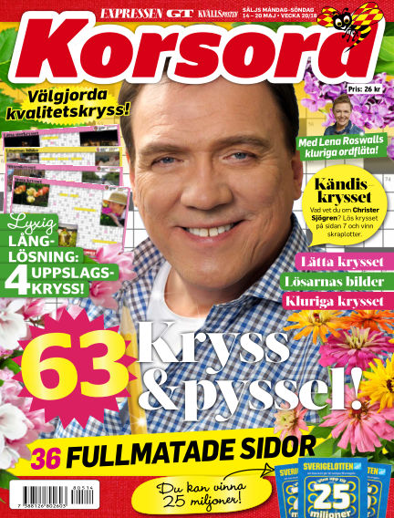 Korsord May 14, 2018 00:00