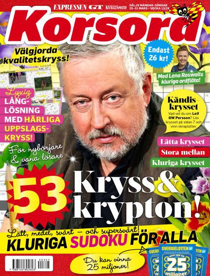 Korsord March 25, 2019 00:00