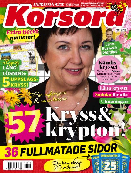 Korsord May 06, 2019 00:00