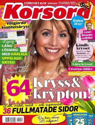 Korsord 2019-09-02