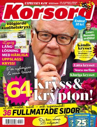 Korsord 2019-09-09