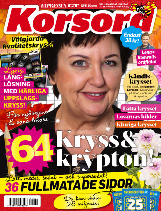 Korsord 2019-09-30