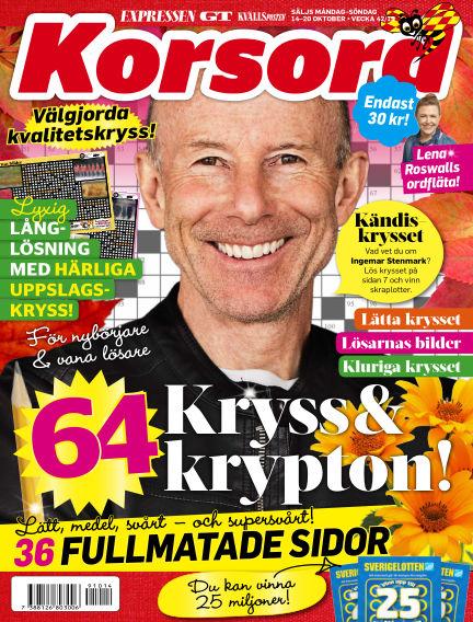 Korsord October 14, 2019 00:00