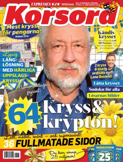 Korsord May 31, 2021 00:00