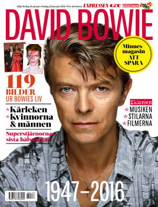 David Bowie Minnesmagasin 2016-01-16
