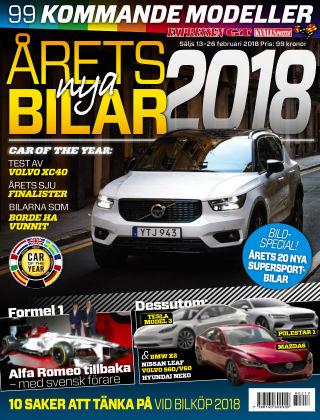 Årets Nya Bilar 2018 2018-02-13