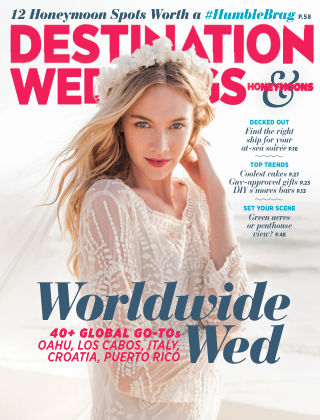 Destination Weddings & Honeymoons Sept / October 2015