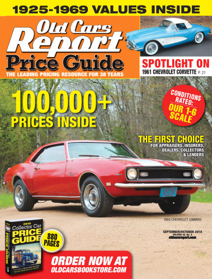 Old Cars Report Price Guide September 02, 2018 00:00