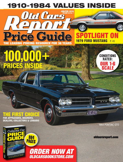 Old Cars Report Price Guide January 05, 2018 00:00