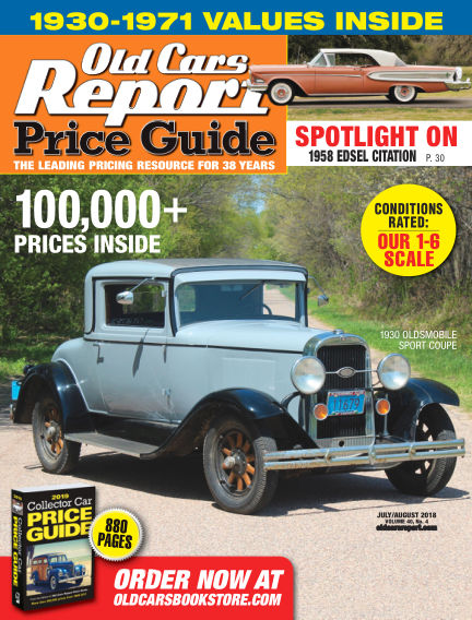 Old Cars Report Price Guide July 15, 2018 00:00
