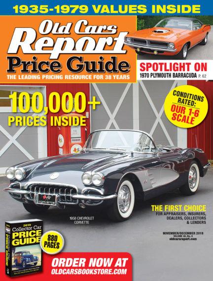Old Cars Report Price Guide November 04, 2018 00:00