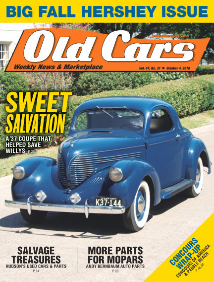 Old Cars Weekly September 26, 2018 00:00