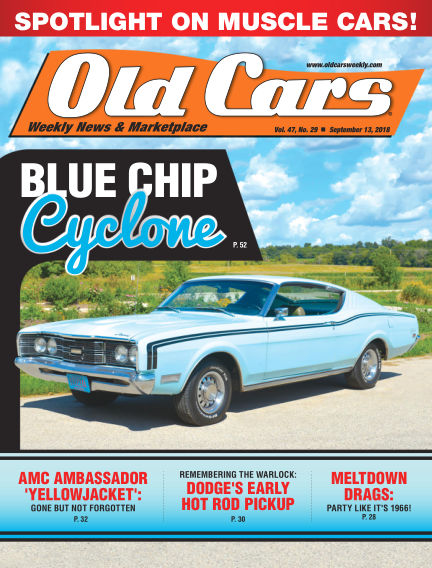 Old Cars Weekly September 05, 2018 00:00