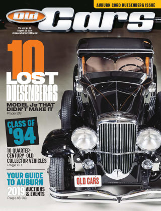 Old Cars Weekly Aug 22 2019