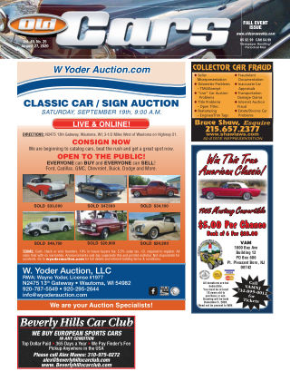 Old Cars Weekly August 27 2020