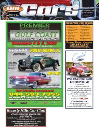 Old Cars Weekly November 26 2020