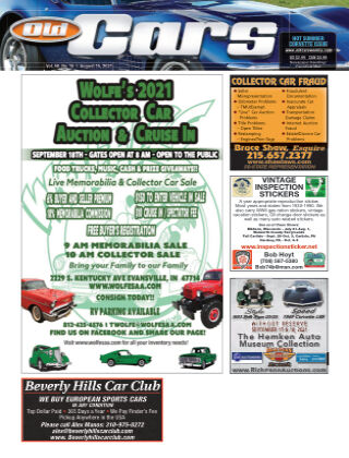 Old Cars Weekly August 15 2021