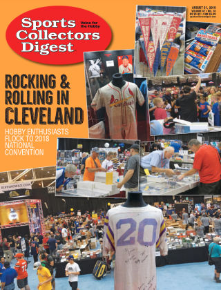 Sports Collectors Digest Aug 31 2018