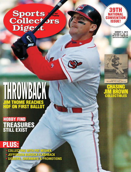 Sports Collectors Digest July 24, 2018 00:00