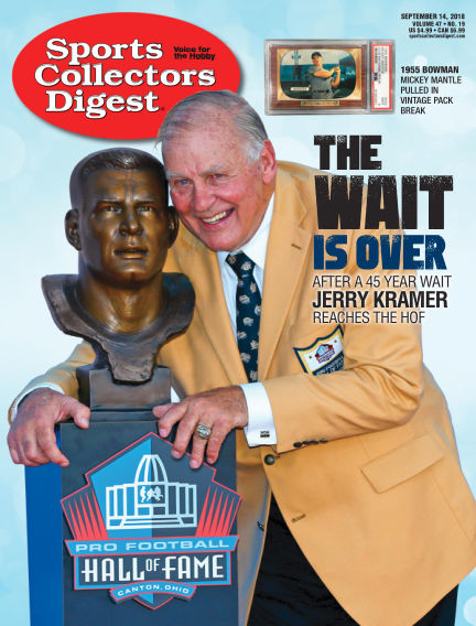Sports Collectors Digest September 04, 2018 00:00