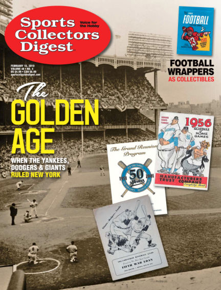 Sports Collectors Digest January 28, 2019 00:00