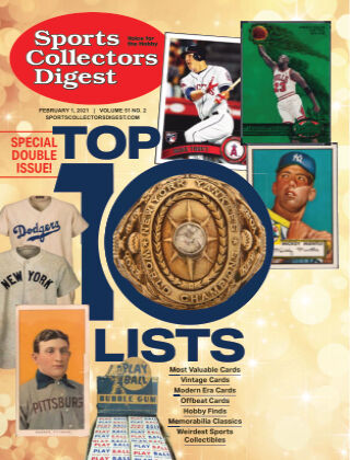 Sports Collectors Digest February 1 2021