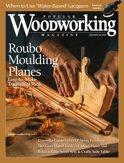 Popular Woodworking March 01, 2016 00:00