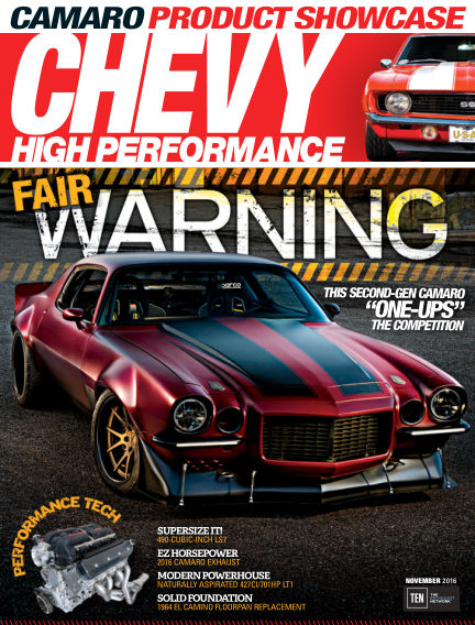 Chevy High Performance August 26, 2016 00:00