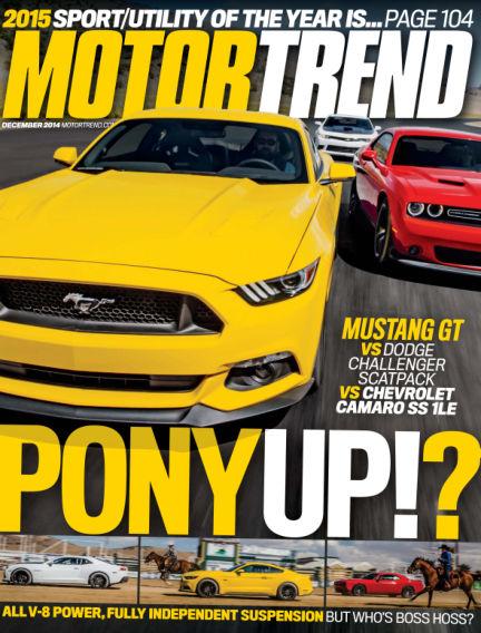 Motor Trend October 31, 2014 00:00