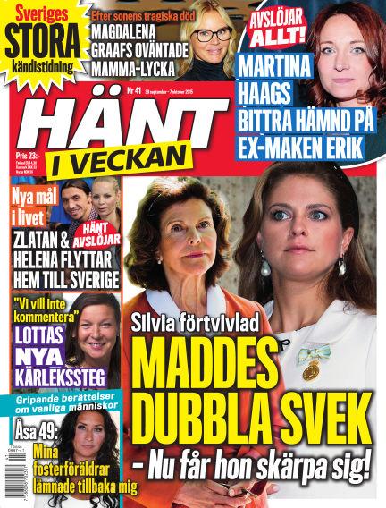 Hänt i Veckan September 30, 2015 00:00
