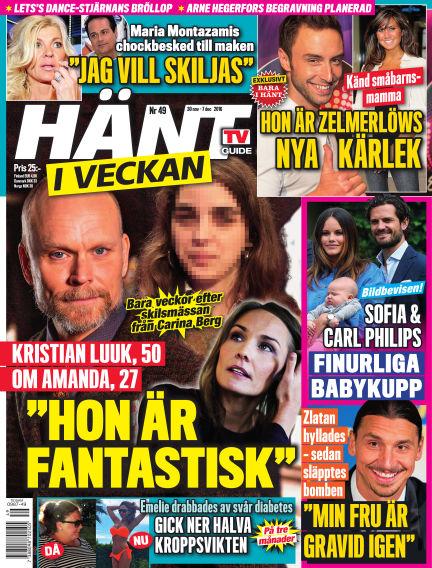 Hänt i Veckan December 01, 2016 00:00