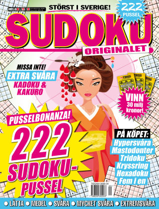 Sudoku (Inga nya utgåvor) 2016-09-20