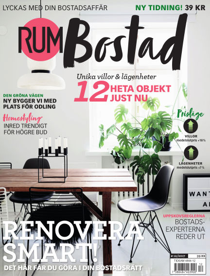RUM BOSTAD (Inga nya utgåvor) May 24, 2017 00:00