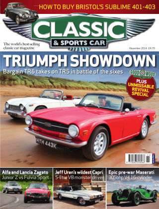 Classic & Sports Car November 2014
