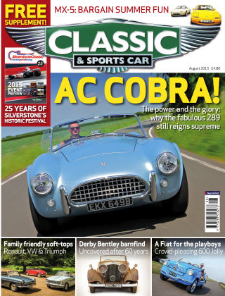 Classic & Sports Car August 2015