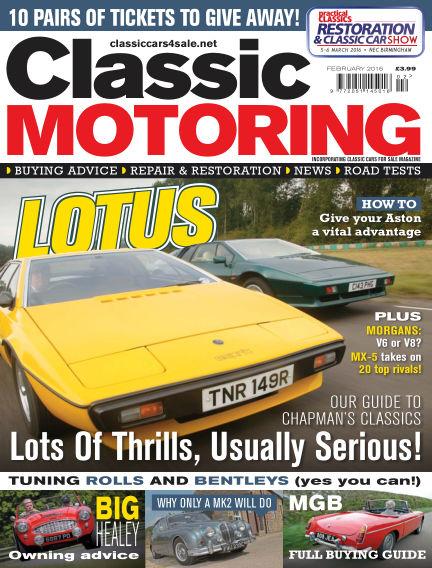 Classic Motoring January 08, 2016 00:00