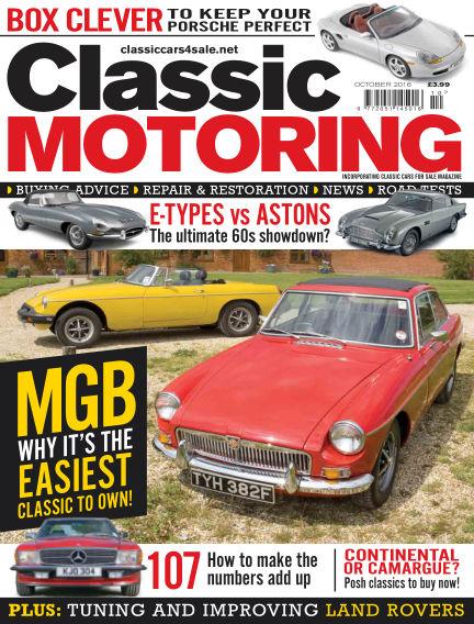 Classic Motoring September 02, 2016 00:00